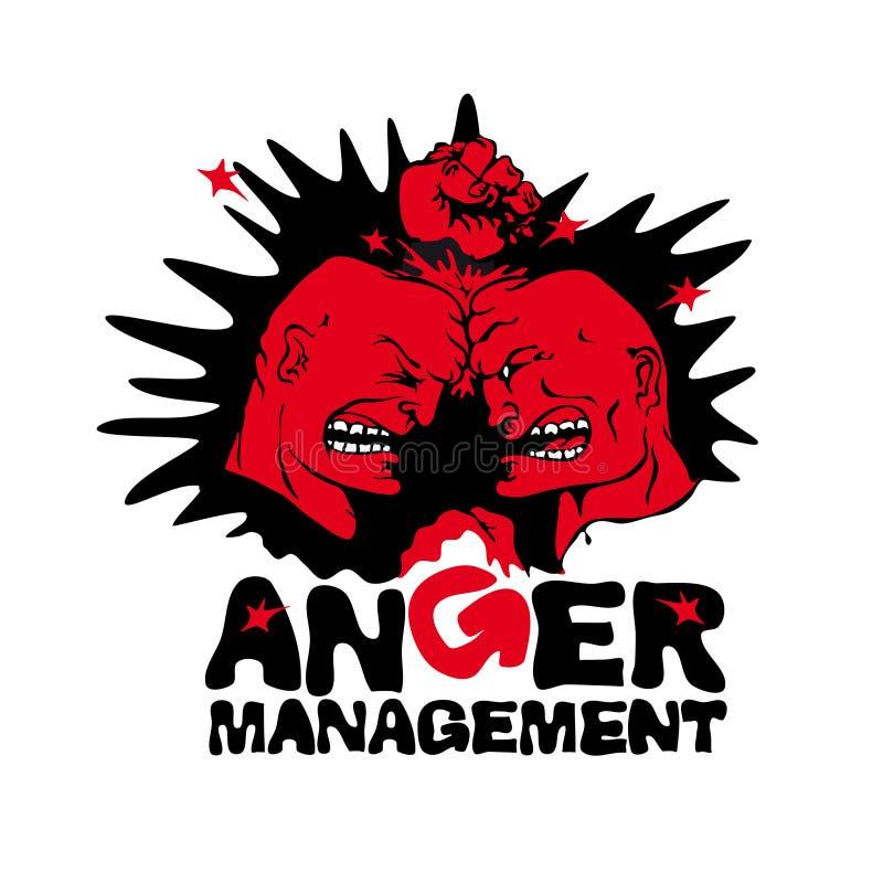 Två ilskna män vektor illustrationer
