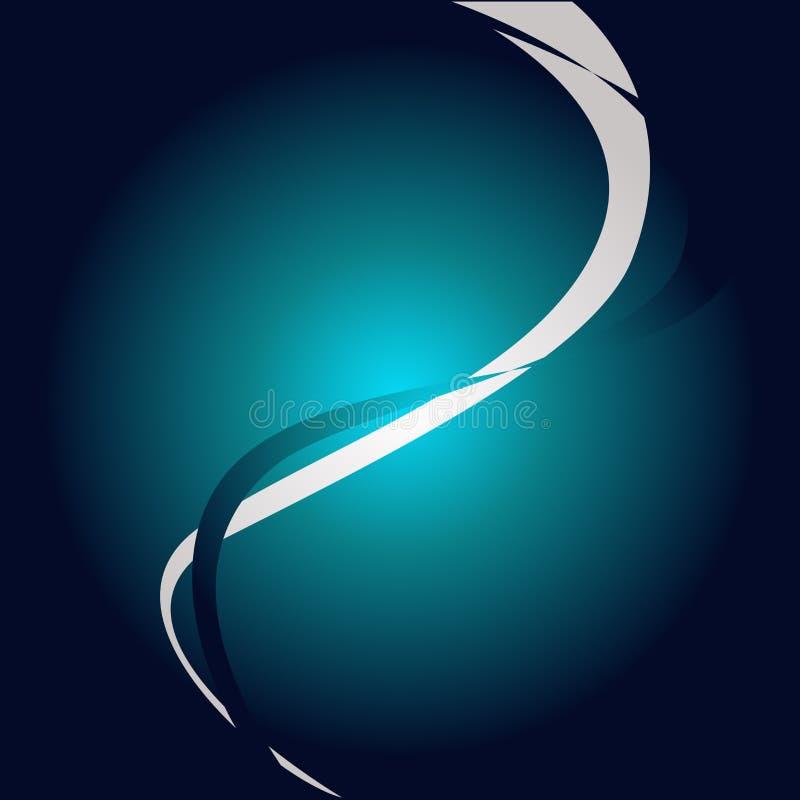 Två intermittenta kurvvågor som delar solen, strålade bakgrund i halvor Kulör krabb abstrakt design Bakgrundid? f?r vektor illustrationer