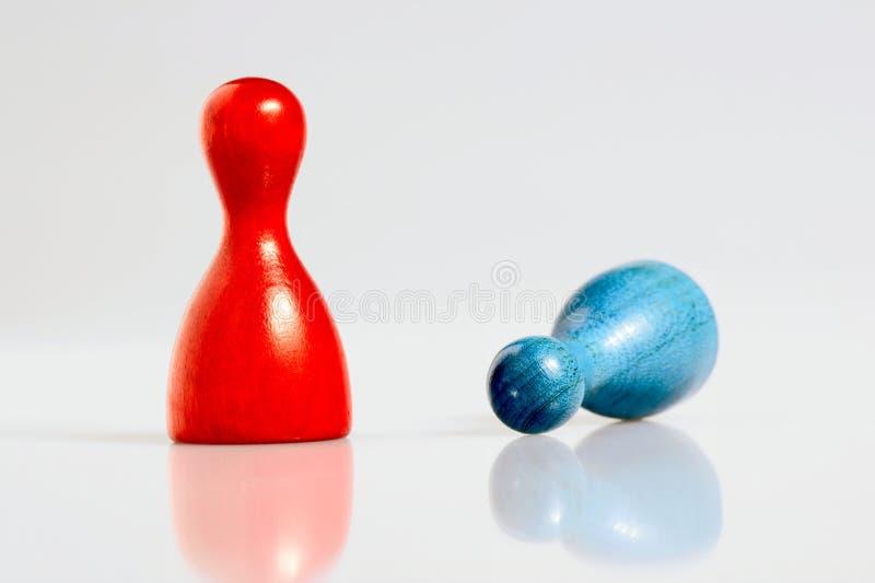 Två modiga figurines. royaltyfria foton