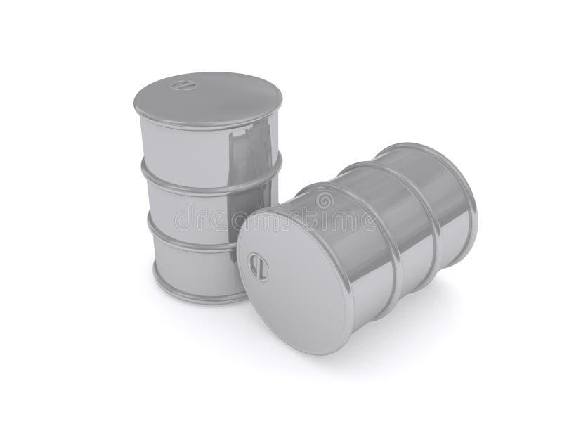 Två olje- trummor vektor illustrationer