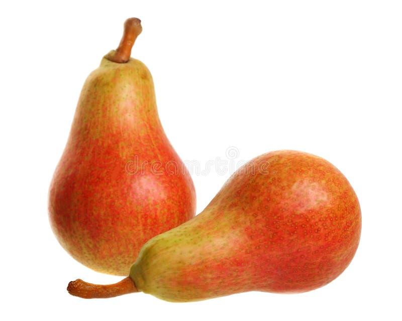 Två päron arkivfoto