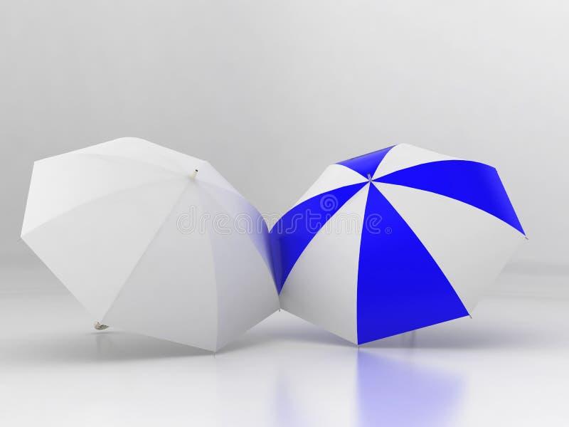 två paraplyer stock illustrationer