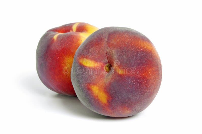 Två persikor arkivbilder