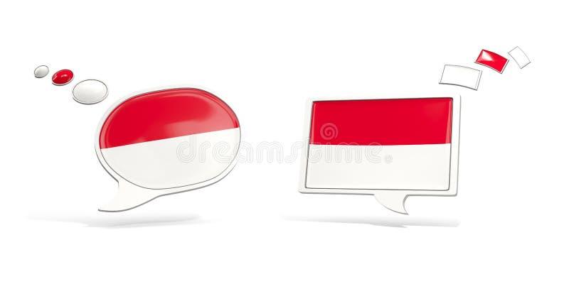 Två pratstundsymboler med flaggan av Monaco vektor illustrationer