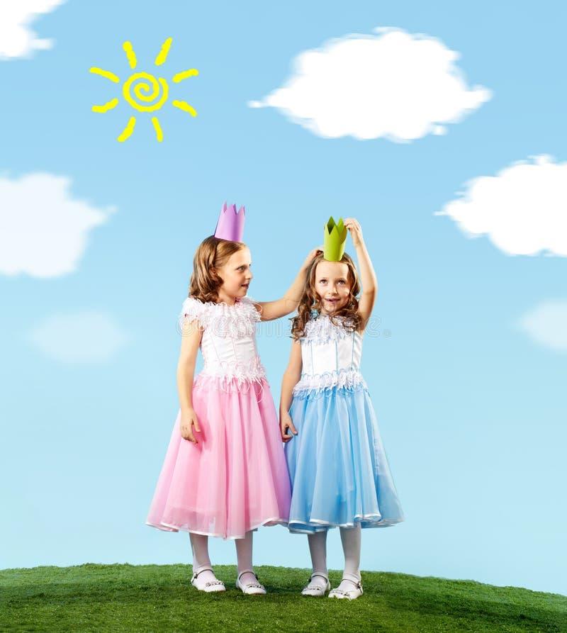 Två princesses arkivfoton