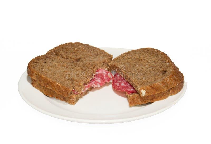 Två skivor av bröd arkivbild