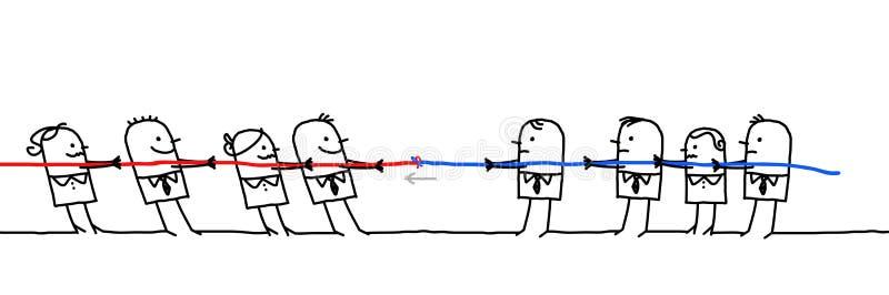 Två slåss affärslag royaltyfri illustrationer