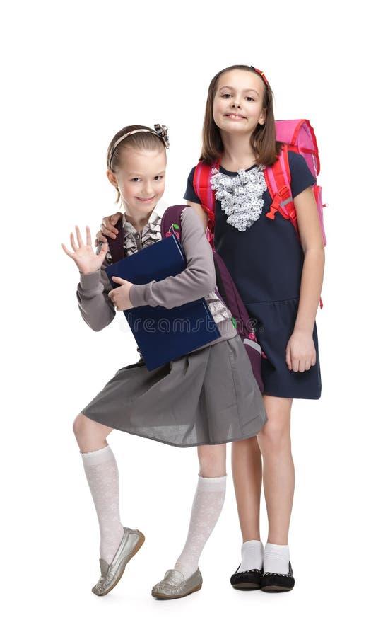 Två små klasskompisar royaltyfria foton