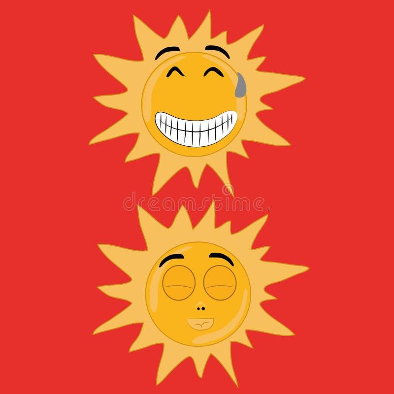 Två solar stock illustrationer