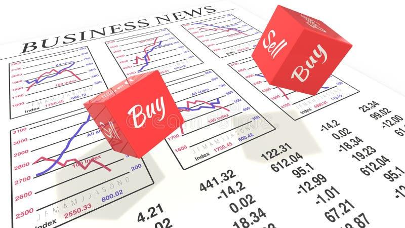 Två tärning med köpförsäljningsrullning stock illustrationer