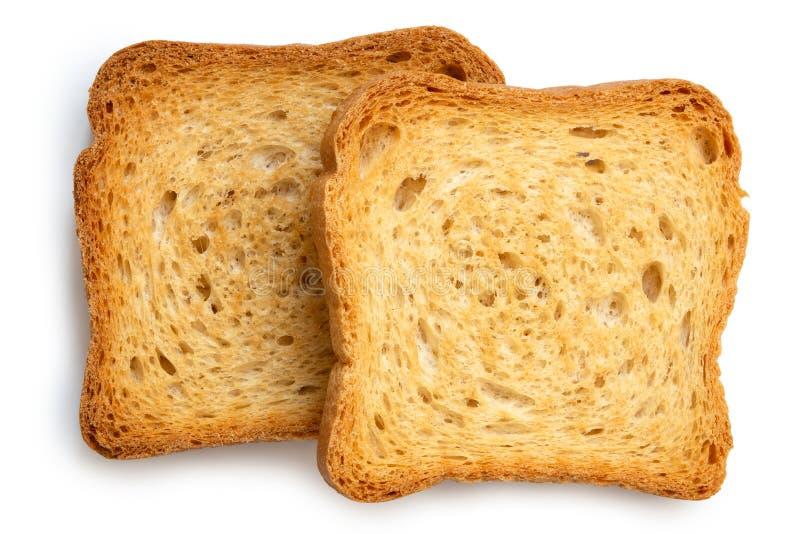 Två vanliga melbarostade bröd som isoleras på vit från över royaltyfri foto