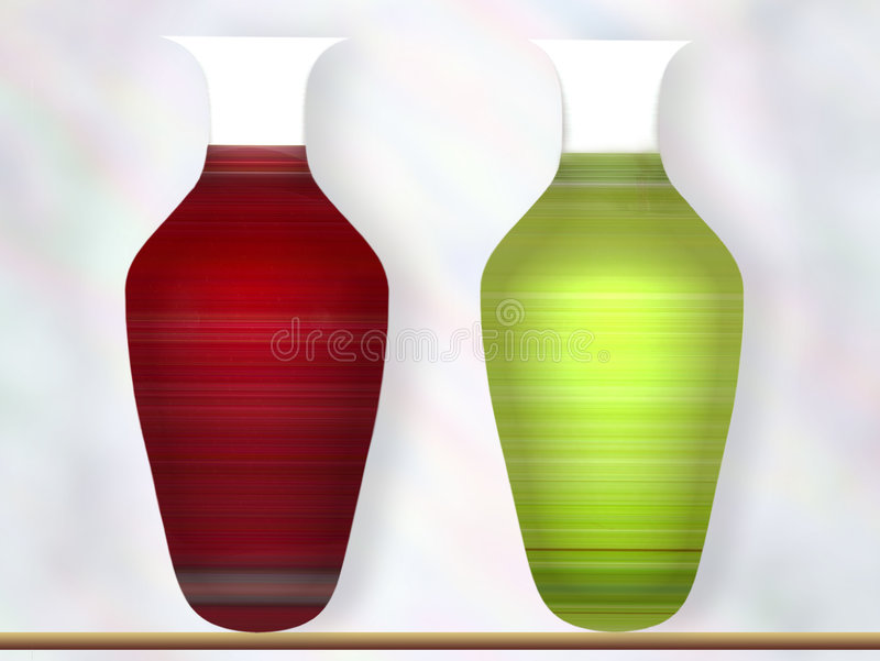 två vases royaltyfri bild