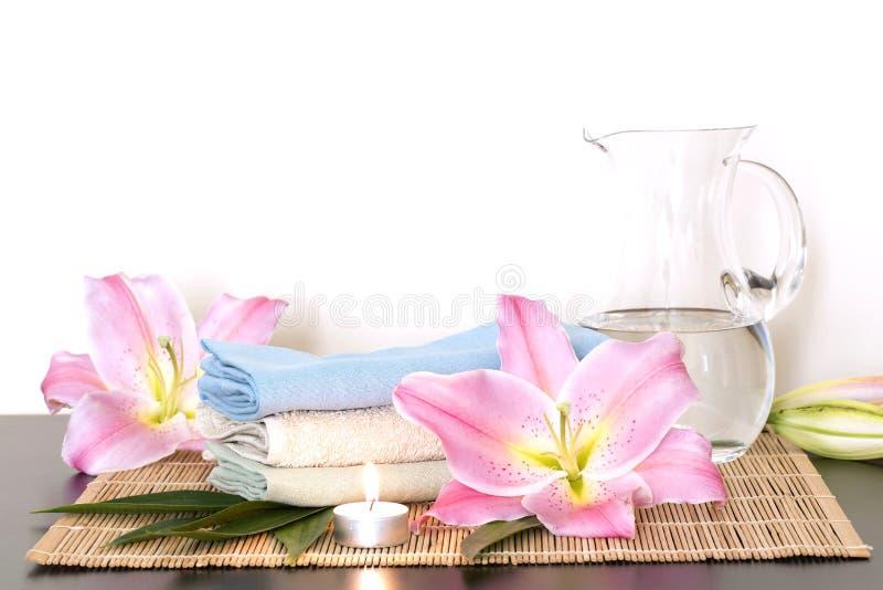 Tvål-, handduk- och blommasnowdrops royaltyfri bild
