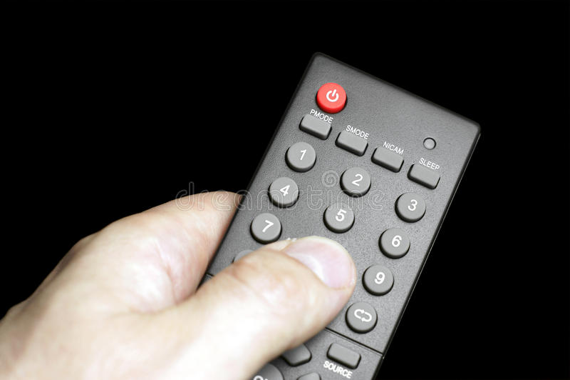 TV à télécommande. photographie stock libre de droits