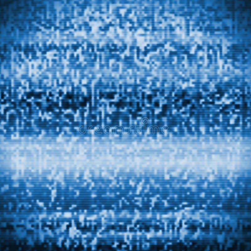 TV ładunku elektrostatycznego hałas ilustracja wektor