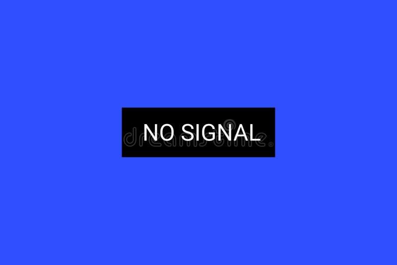 TV Żadny sygnał ładunku elektrostatycznego ekran 4k, pełni hd postanowienia wektor ilustracja wektor