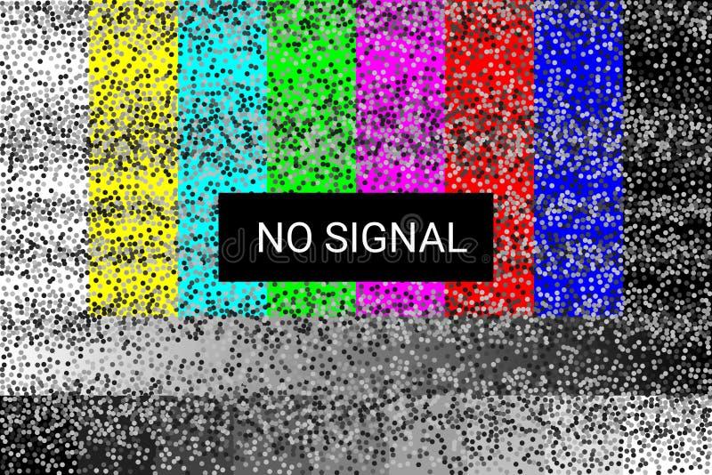TV Żadny sygnał ładunku elektrostatycznego ekran 4k, pełni hd postanowienia wektor royalty ilustracja
