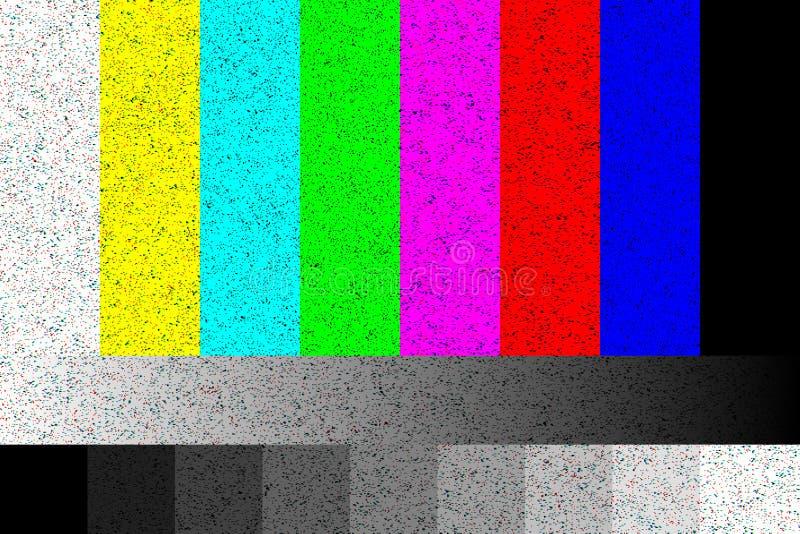 TV Żadny sygnał rgb ładunku elektrostatycznego ekran z hałasem 4k, pełni hd postanowienia royalty ilustracja