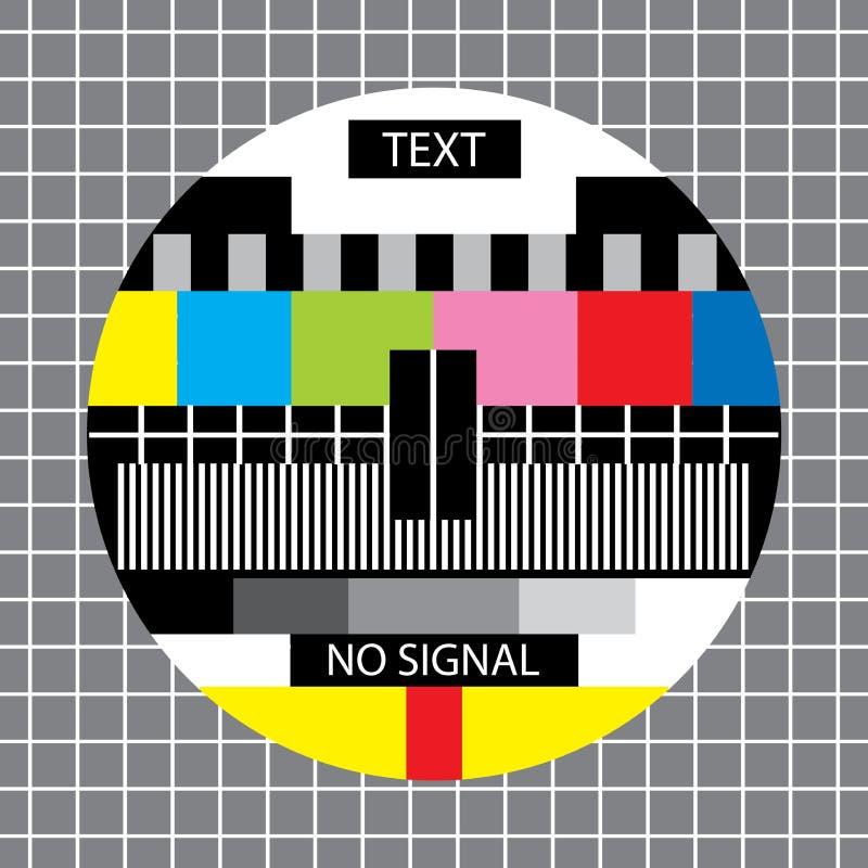 Tv żadny sygnałowy monoskop ilustracja wektor