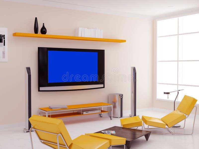 TV διαμερισμάτων απεικόνιση αποθεμάτων
