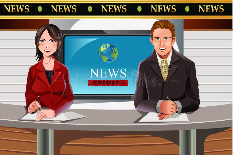 TV ειδήσεων αγκυλών διανυσματική απεικόνιση