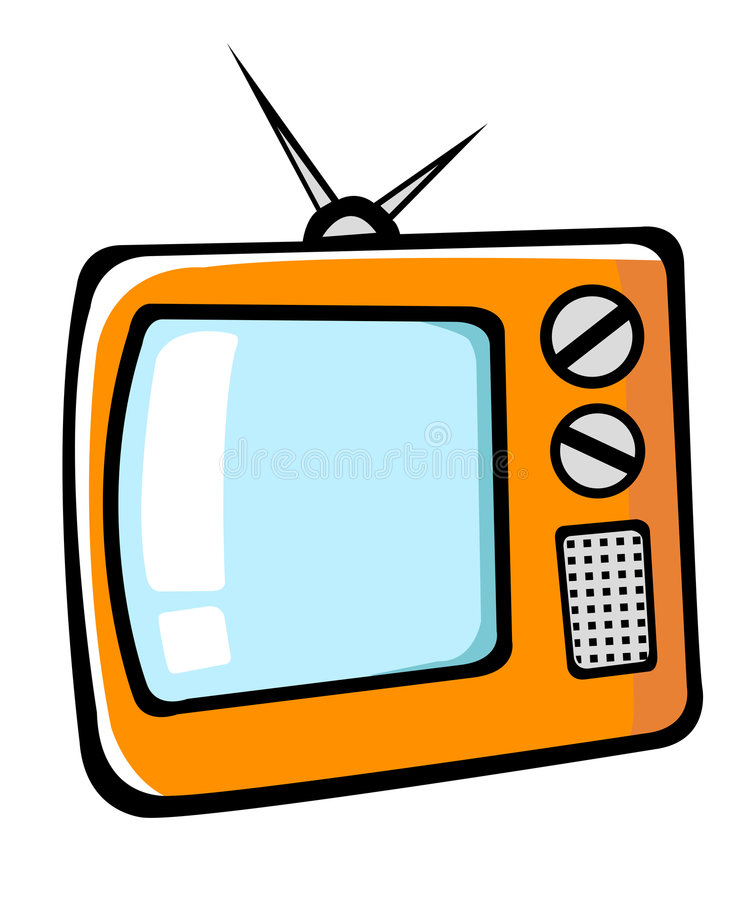 TV κινούμενων σχεδίων διανυσματική απεικόνιση