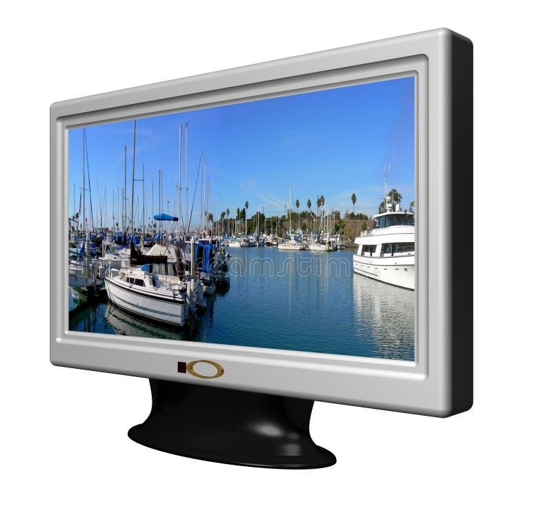 TV οθόνης LCD ευρέως στοκ εικόνες