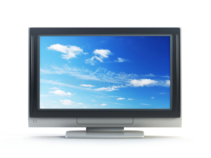 TV πλάσματος ελεύθερη απεικόνιση δικαιώματος