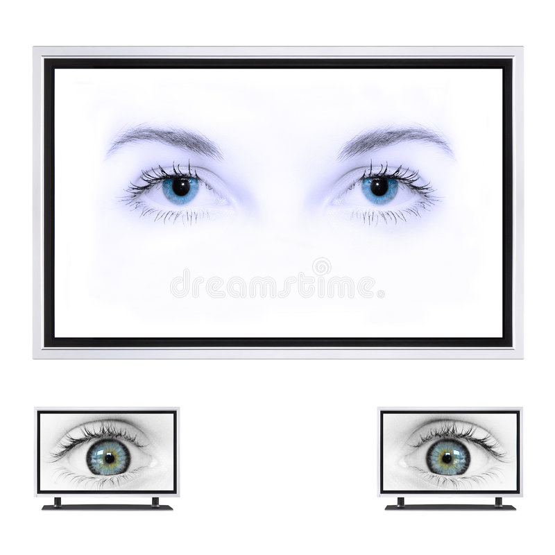 TV πλάσματος στοκ εικόνα