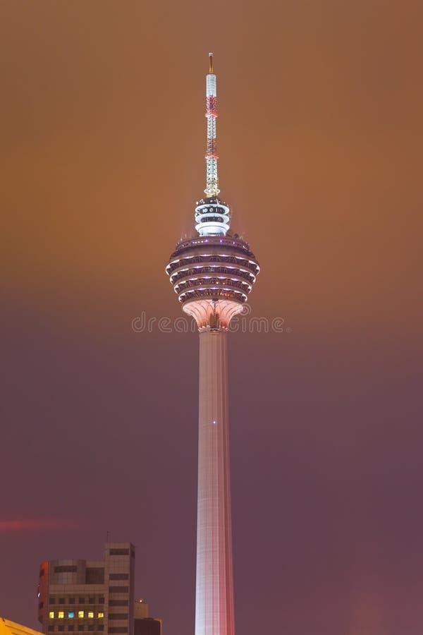 TV πύργων menara της Κουάλα Λου&mu στοκ φωτογραφίες