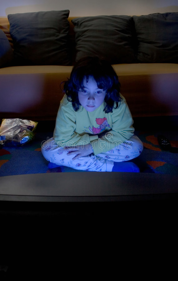 TV σκλάβων παιδιών Στοκ εικόνες με δικαίωμα ελεύθερης χρήσης