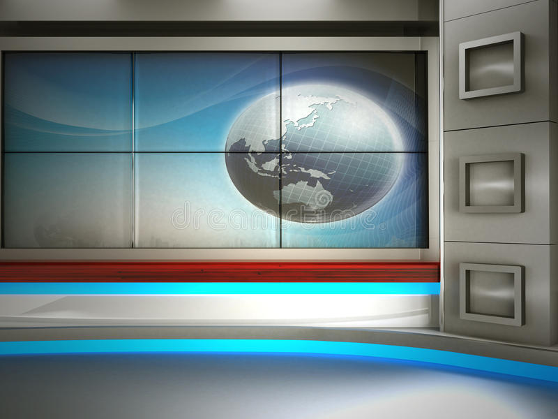 TV στούντιο απεικόνιση αποθεμάτων