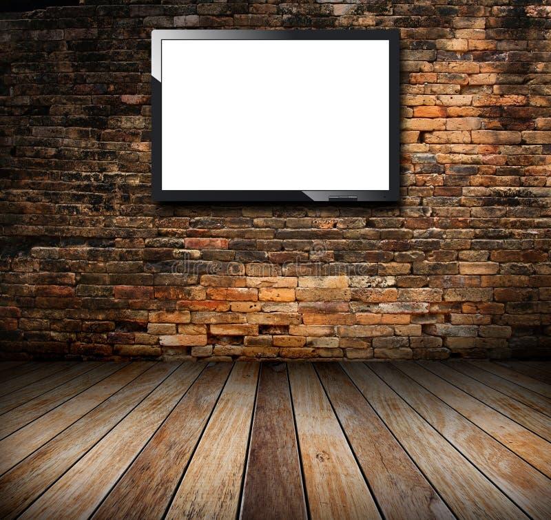 TV στο δωμάτιο grunge διανυσματική απεικόνιση