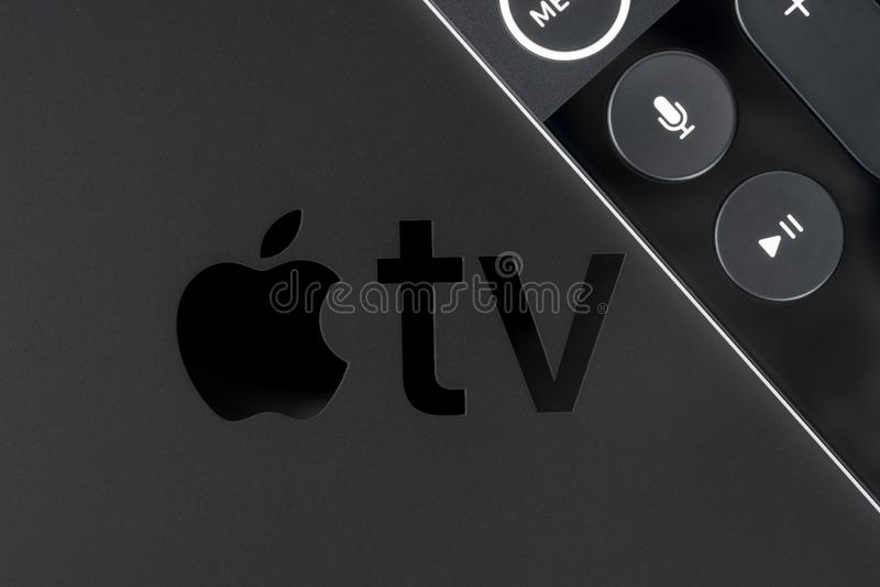 TV της Apple 4K στοκ εικόνα