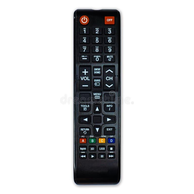 TV τηλεχειρισμού που απομονώνεται στο άσπρο υπόβαθρο στοκ φωτογραφίες