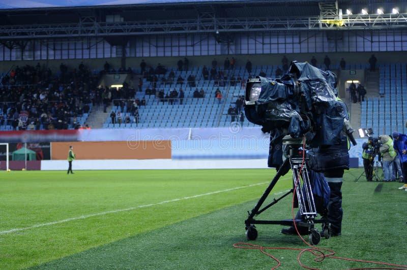 TV χειριστών στοκ φωτογραφίες με δικαίωμα ελεύθερης χρήσης