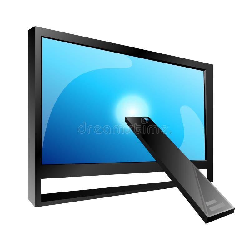 TV и дистанционное управление, вектор иллюстрация штока