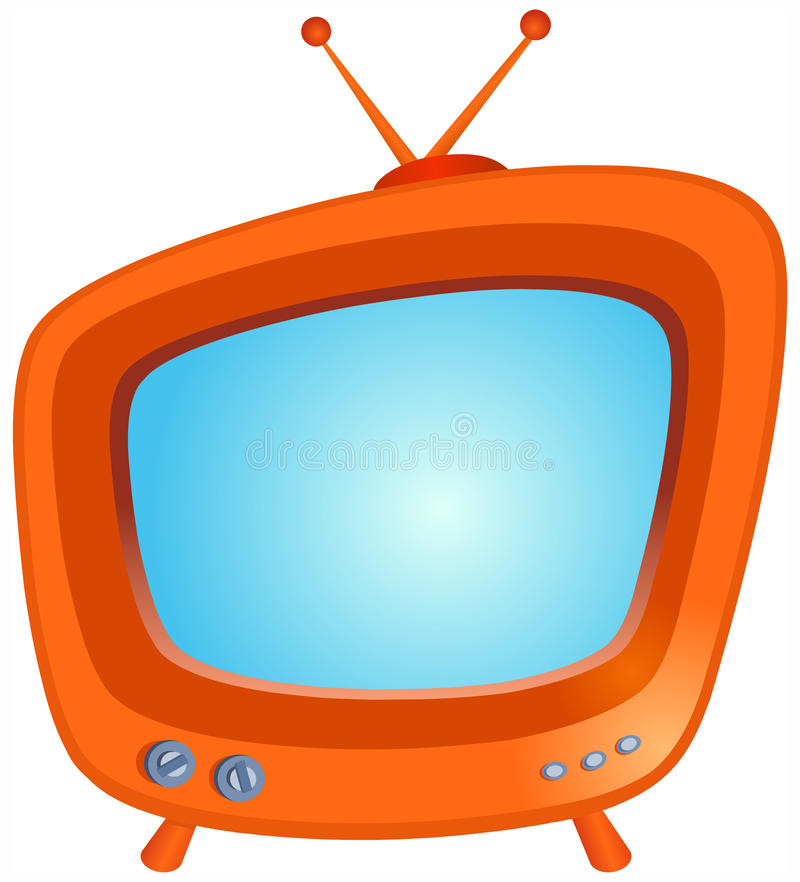 TV. Illustration of a retro TV