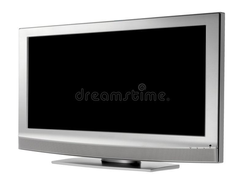 Download TV stock image. Image of silver, modern, monitor, isolated - 3348657