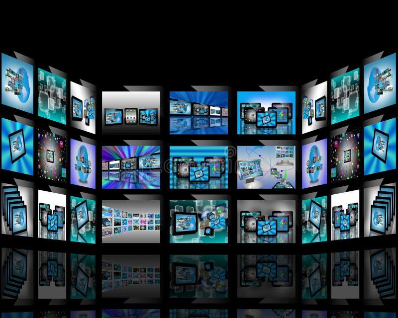Download TV abstrakcja ilustracji. Ilustracja złożonej z informacja - 28953878