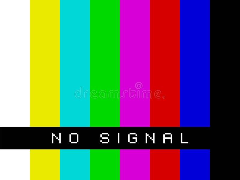 TV Żadny sygnał ilustracji