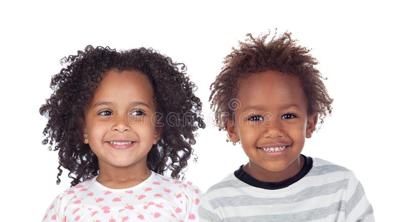 Tv? afro- amerikanska barn royaltyfri bild