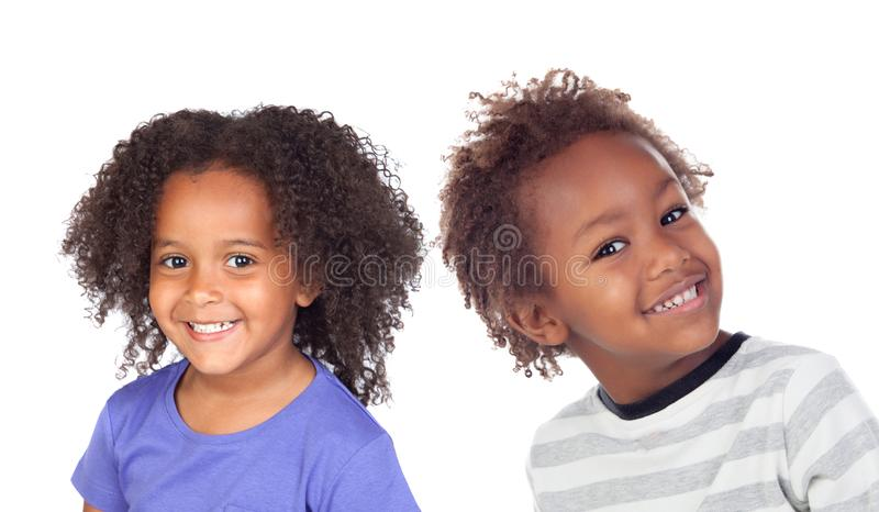 Tv? afro- amerikanska barn royaltyfria foton