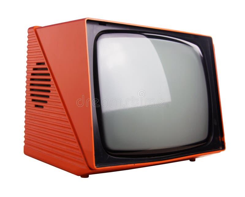 TV anaranjada foto de archivo libre de regalías