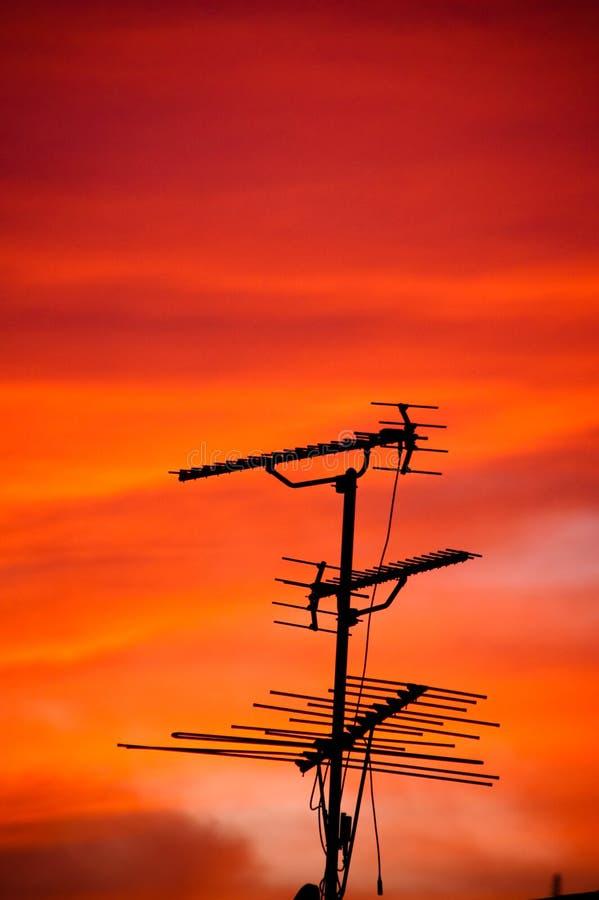 TV antena στοκ εικόνα με δικαίωμα ελεύθερης χρήσης