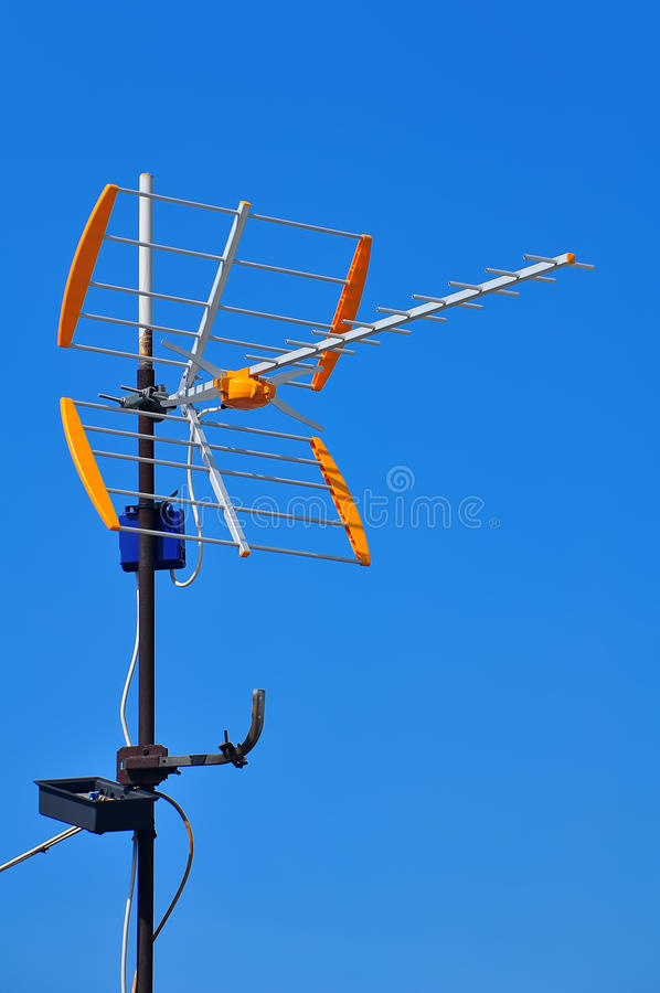 Download TV antenna stock image. Image of industrial, broadcast - 20614625
