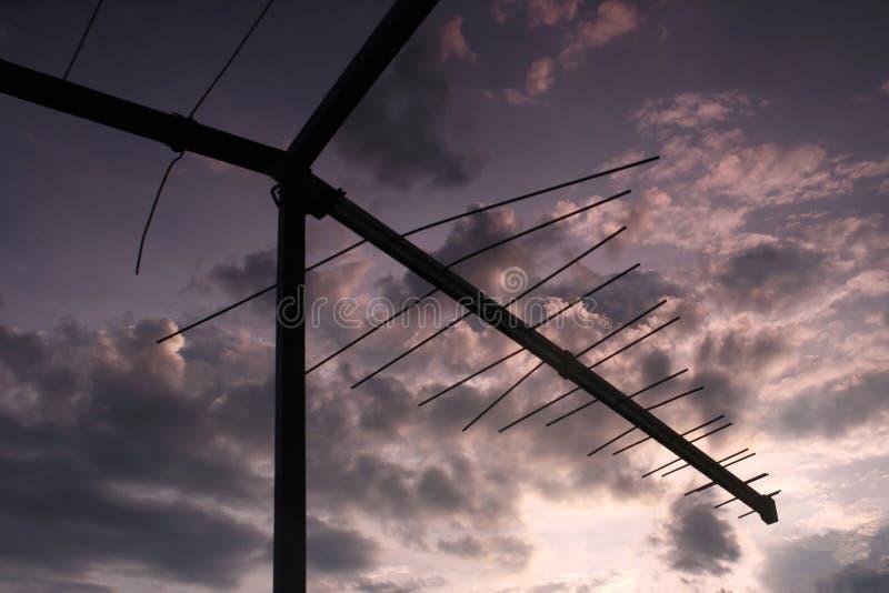 Download TV antenna stock photo. Image of cloud, landscape, storm - 3357926