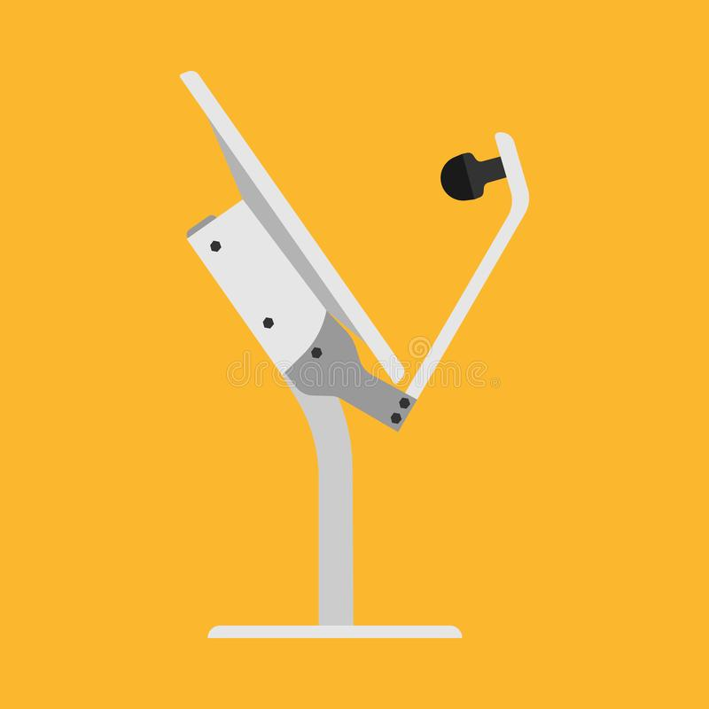 TV antenna broadcast media vector icon technology. Channel signal dish receiver satellite. Cartoon tower station network vector illustration