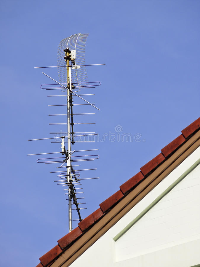 Download Tv Antenna On Roof Stock Photography - Image: 36597192
