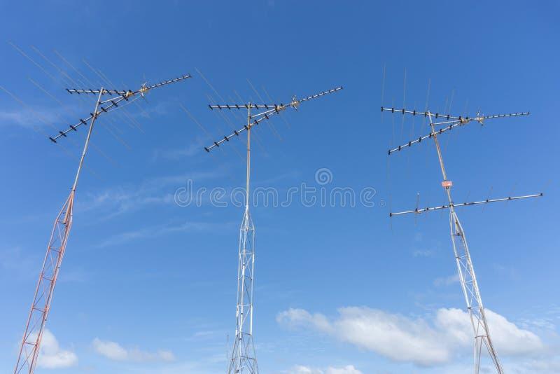 TV-antenne stock afbeelding